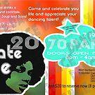 vintage 70's party flyer by delonte089