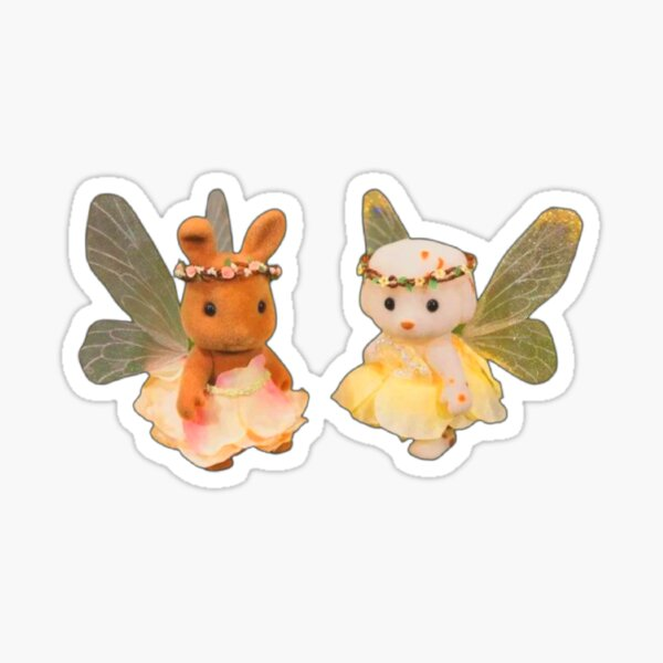 Fairy Puppy And Bunny Sticker