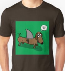 Wiener Dog with a Shark Fin Unisex T-Shirt