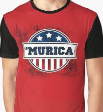 'MURICA T-Shirt. America. Jesus. Freedom. - The Campaign Graphic T-Shirt