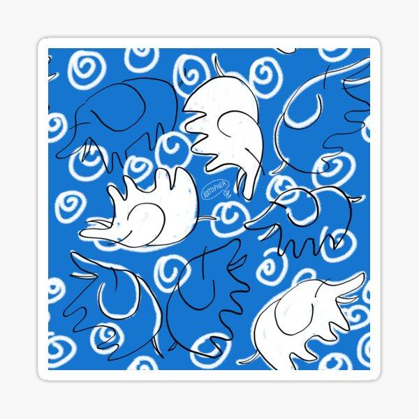 Elefantes en Azul by VIXTOPHER Sticker