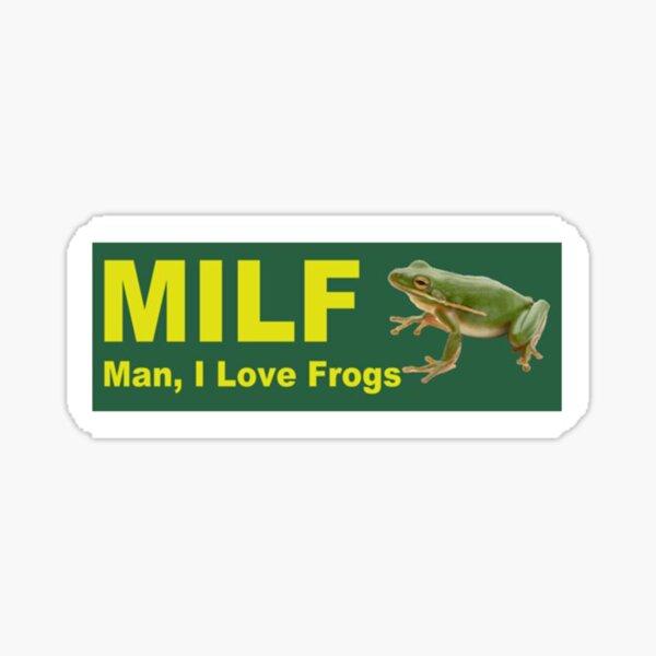man i love frogs bumper Sticker