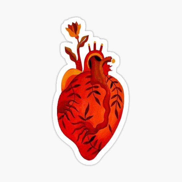 Healthy Human Heart . Sticker