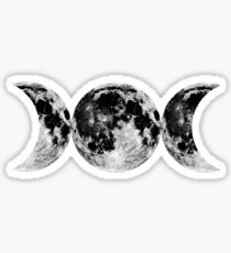 Triple Moon Goddess Symbol Sticker