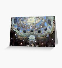 Angelic Library (Austrian National Library) Greeting Card