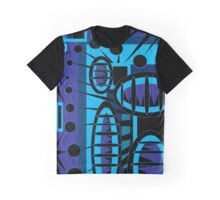 Ediemagic Blue Vortex Graphic T-Shirt