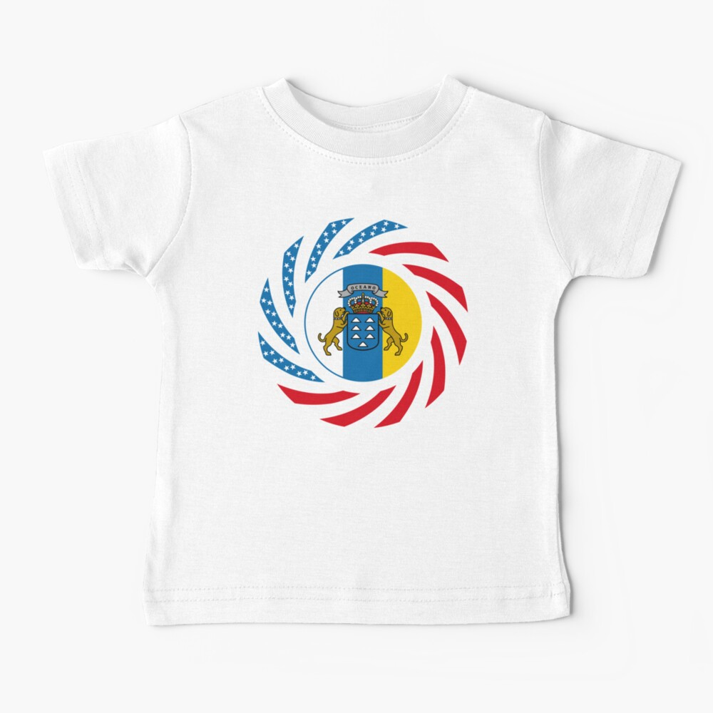 Canarian American Multinational Patriot Flag Series Baby T-Shirt