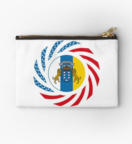 Canarian American Multinational Patriot Flag Series Zipper Pouch