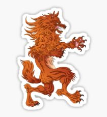 Wolf Coat of Arms Sticker