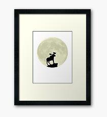 Midnight Moose Framed Print