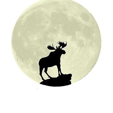 Midnight Moose by Greendaves