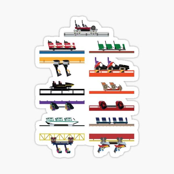 Six Flags Great America Coaster Cars Design Sticker
