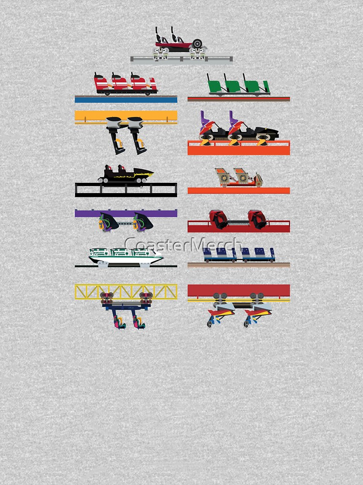 Six Flags Great America Coaster Cars Design by CoasterMerch