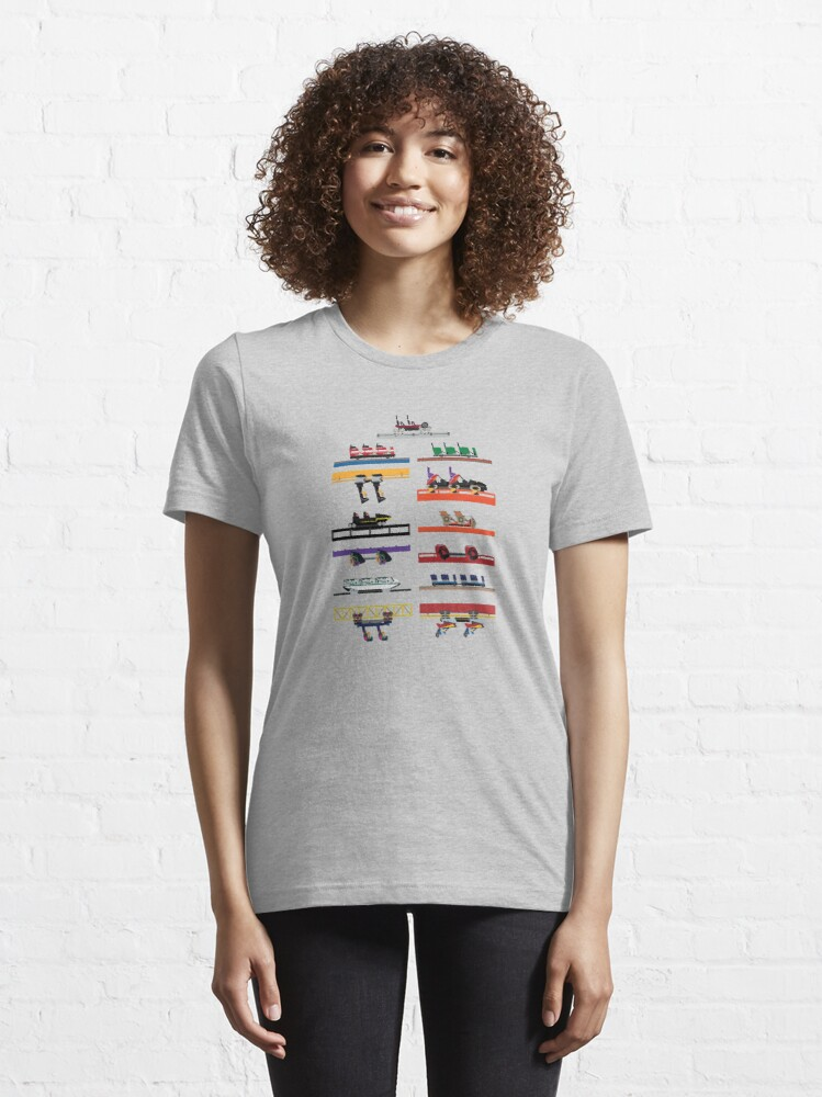Alternate view of Six Flags Great America Coaster Cars Design Essential T-Shirt