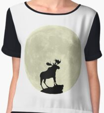 Midnight Moose Chiffon Top