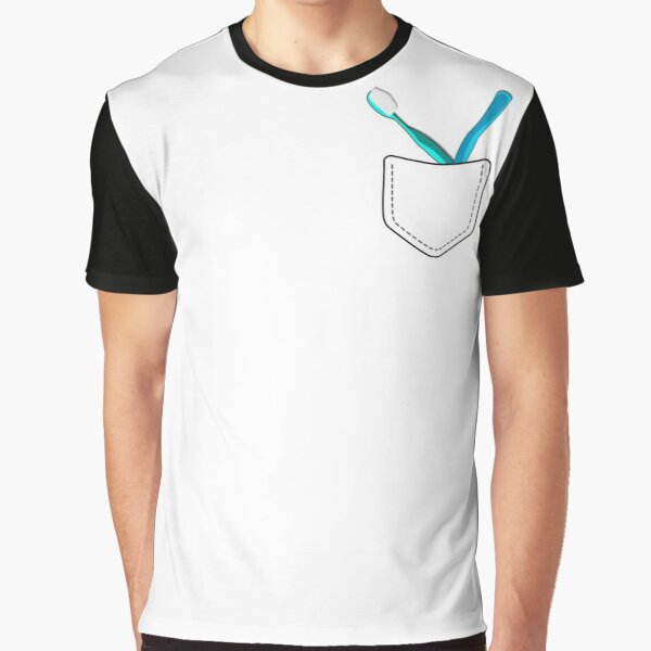 Toothbrushes in Pocket Graphic T-Shirt