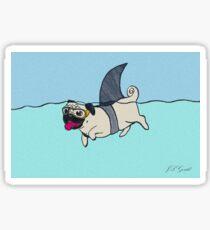 Haifisch Mops Sticker