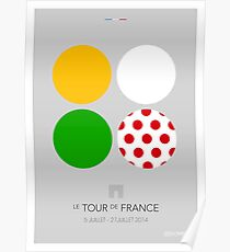 The Jerseys : Tour de France 2014 Poster