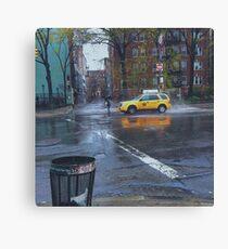 Taxi Standoff Canvas Print