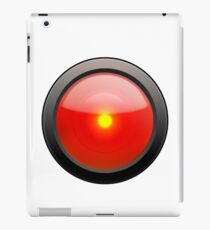 Red Eye over White Background iPad-Hülle & Klebefolie