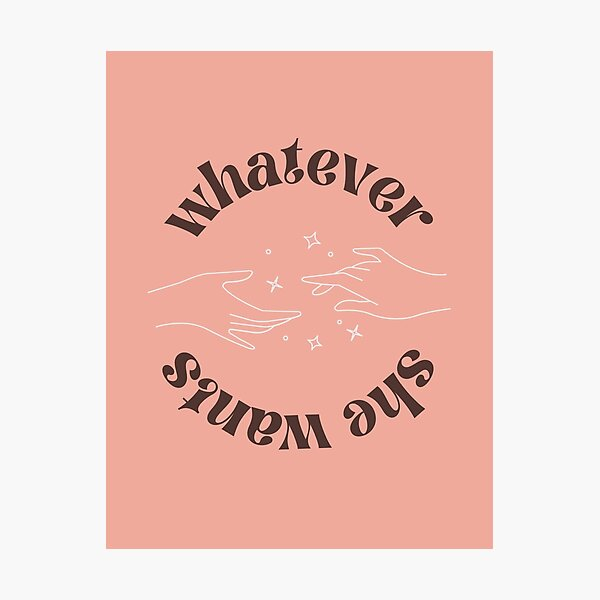 whatever she wants - phoebe bridgers - peach/brown Photographic Print