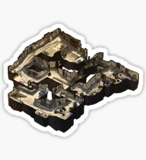 Dust 2 Isometric CSGO Map Sticker