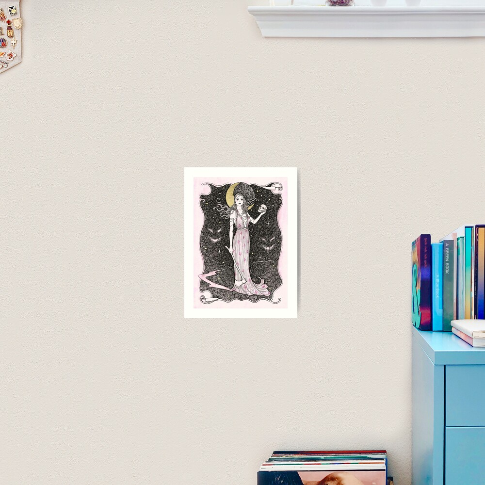 Dama do Horror Art Print