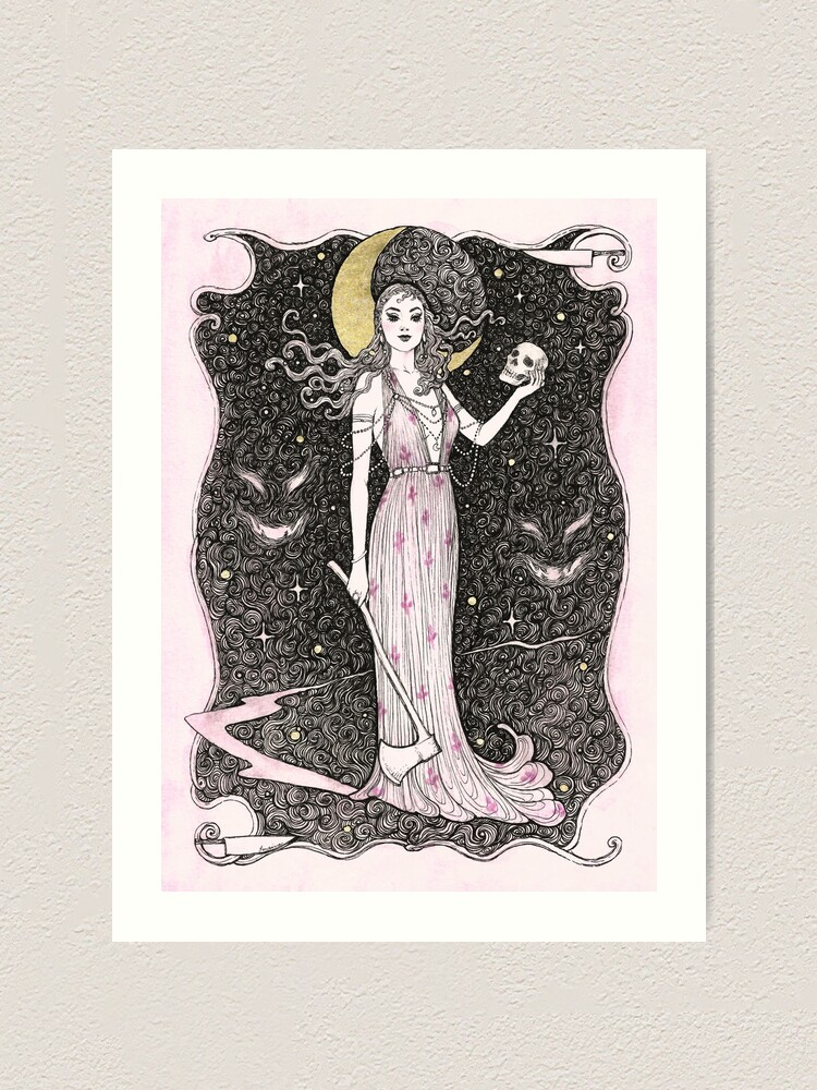 Alternate view of Dama do Horror Art Print