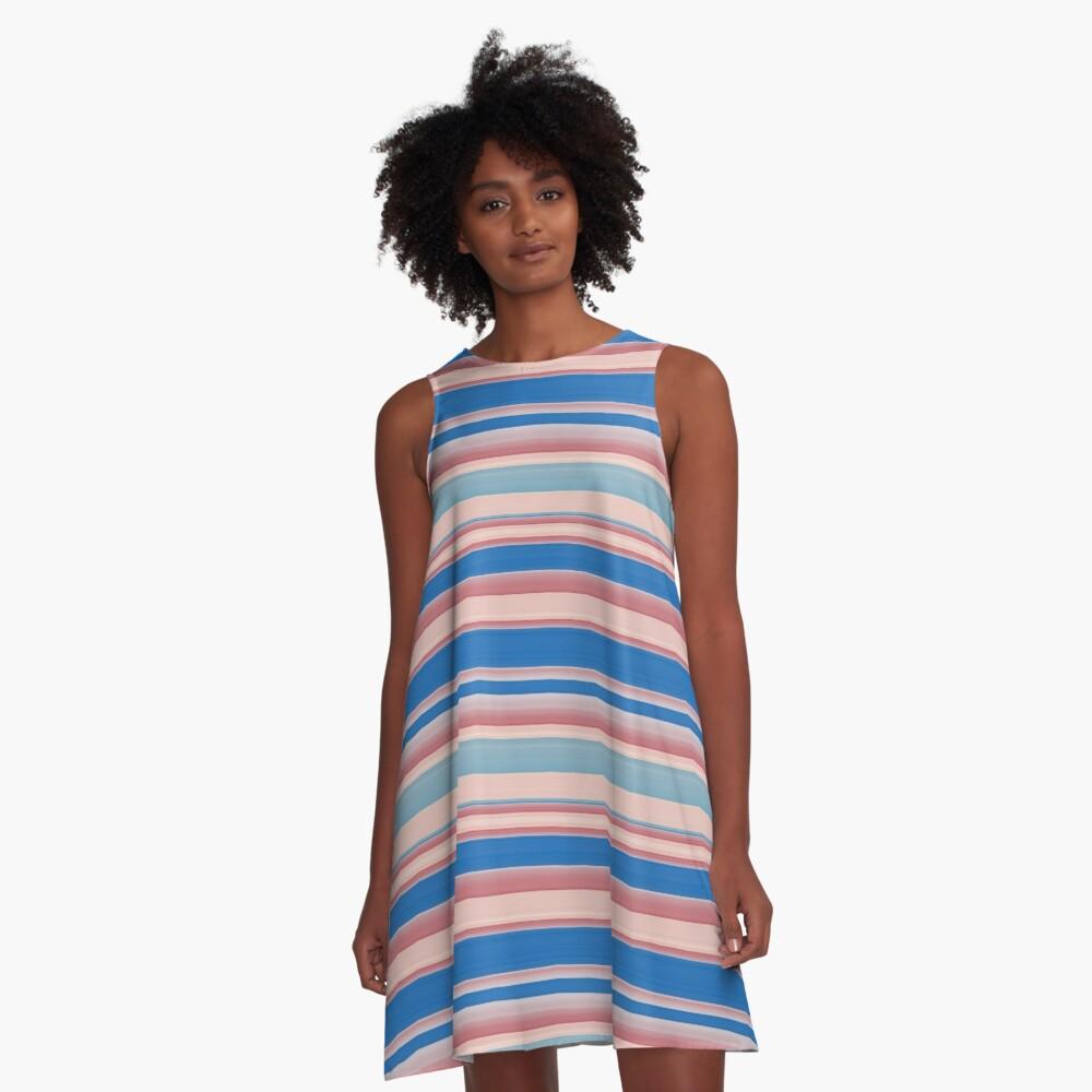 Stripes 310515 (11) A-Line Dress Front