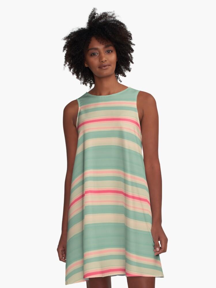 Stripes 310515 (7) A-Line Dress Front