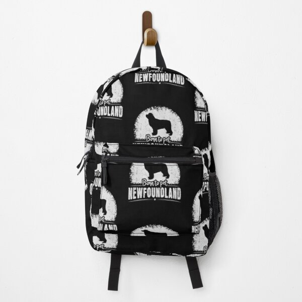 Born To Pet Newfoundland - Funny Newfoundland Dog Newfie Owner Saying Backpack