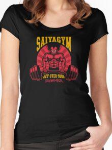 Super Saiya-Gym Women's Fitted Scoop T-Shirt