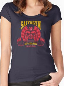 Super Saiya-Gym Women's Fitted Scoop T-Shirt