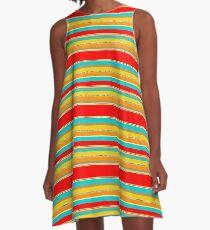 091214 Striped A-Line Dress