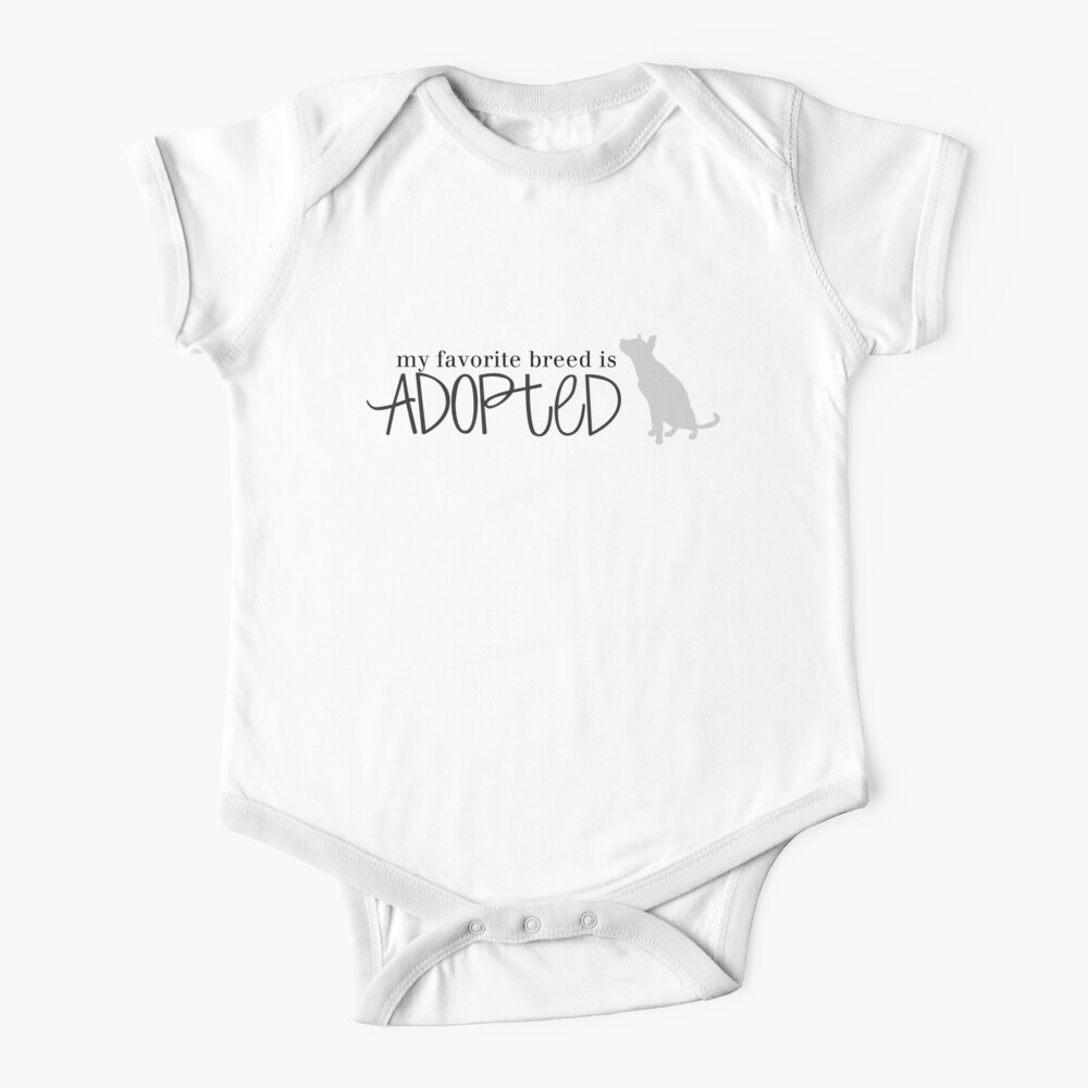 my favorite breed is ADOPTED (dog 3) Baby One-Piece