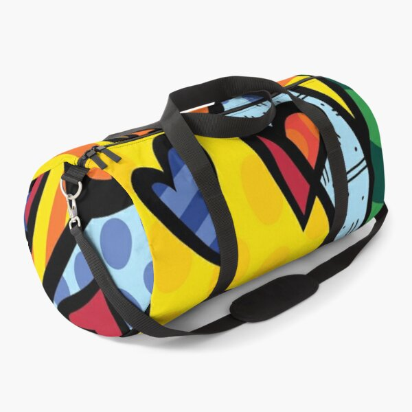 Romero Britto Modern Art  Duffle Bag