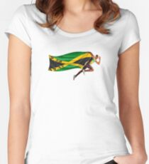 Usain Bolt World Record Women's Fitted Scoop T-Shirt