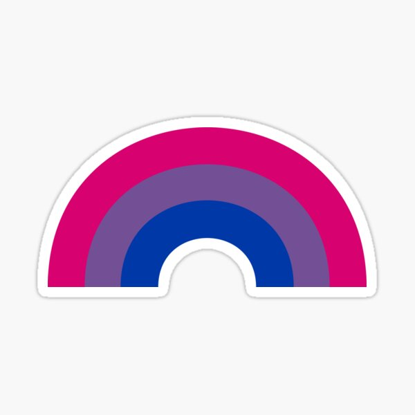 Bi Rainbow Sticker