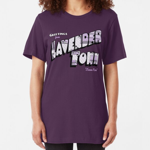 Greetings from Lavender Town Slim Fit T-Shirt