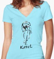 Kittel Sprint King Women's Fitted V-Neck T-Shirt
