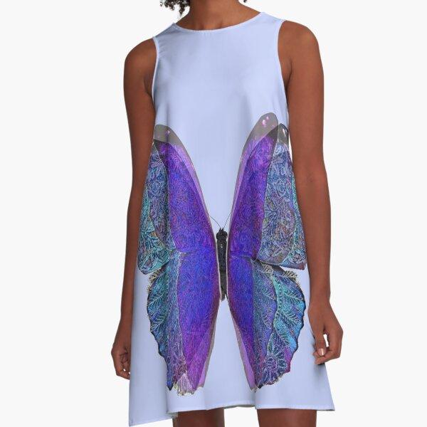 Lace Butterfly A-Line Dress