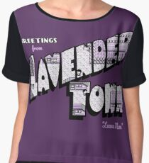 Greetings from Lavender Town Chiffon Top