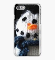 Knitted snowman iPhone Case/Skin
