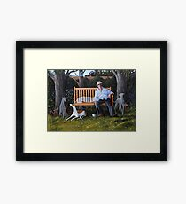 We all still meet once in a while...when I close my eyes. Framed Print