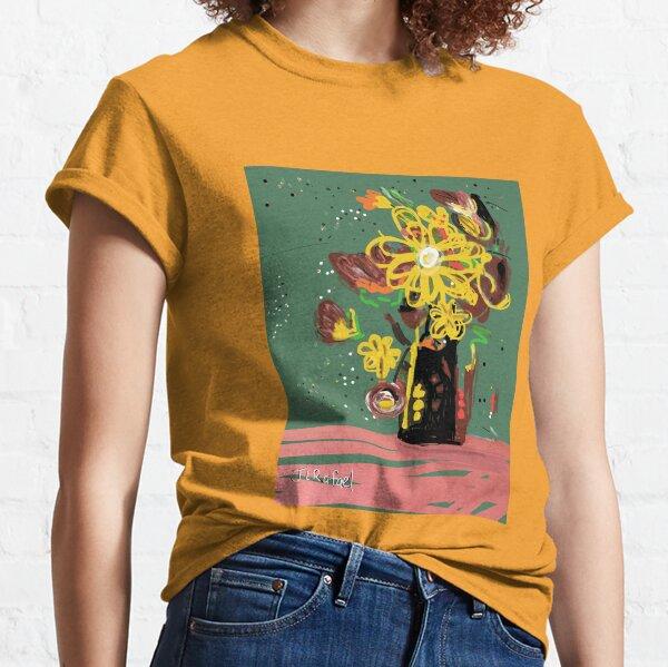 Crazy Flowers Yellow Classic T-Shirt