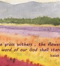 Hope in Troubled Times- Isaiah 40:8 Sticker