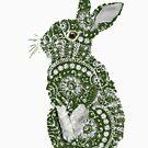 Lace Rabbit by jennyjeffries