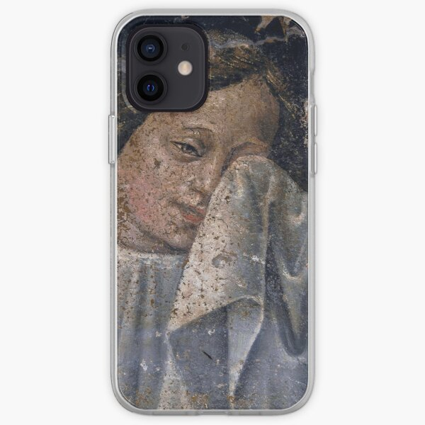 An angel dries her tears in Renaissance fresco iPhone Soft Case