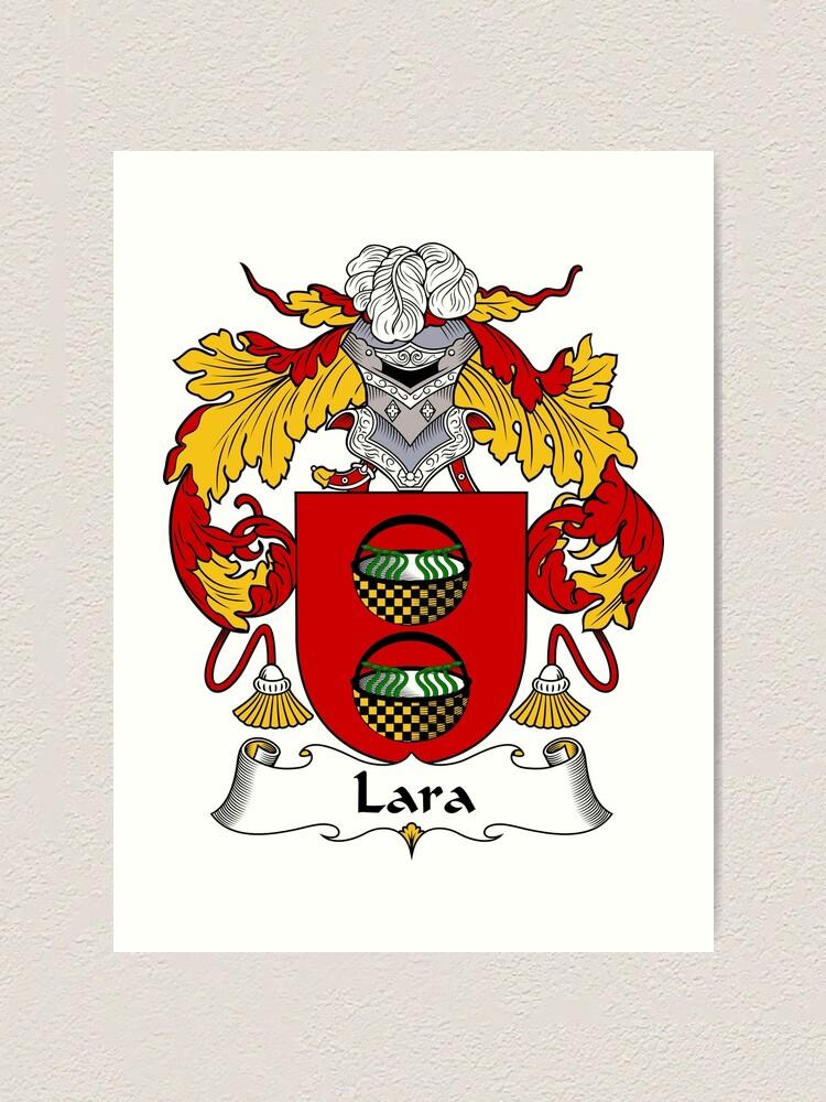 HERALDRY COAT OF ARMS ~ LARA   FAMILY CREST ~ FRAMED