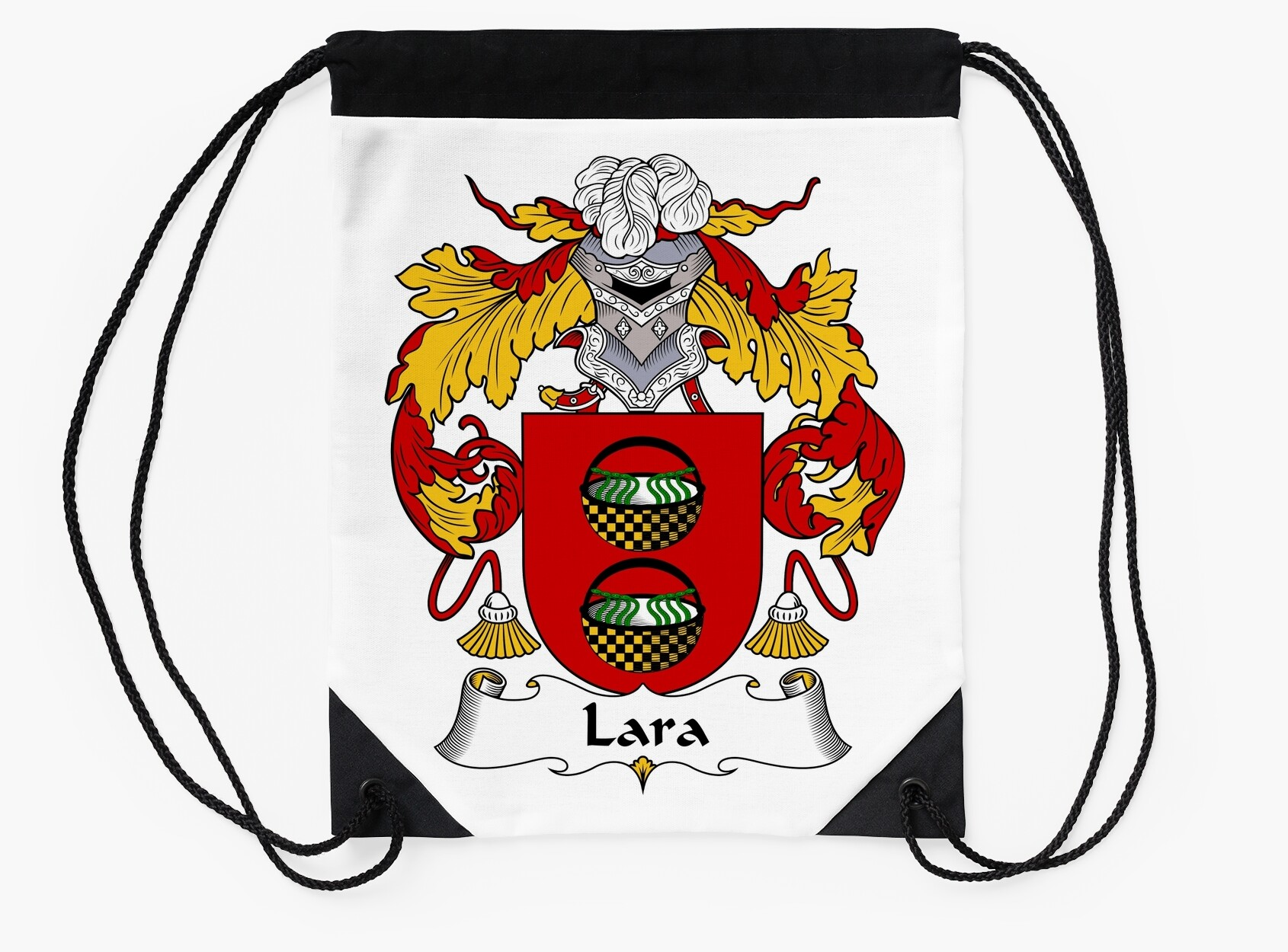 Lara coat of armsfamily crest drawstring bags by william martin lara coat of armsfamily crest buycottarizona Image collections